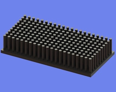 S805-80-40-15 Precision Forged Round Pin Heat Sink