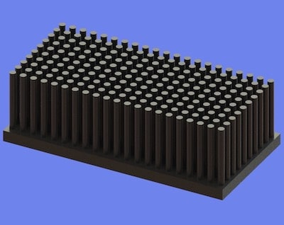 S805-80-40-25 Precision Forged Round Pin Heat Sink