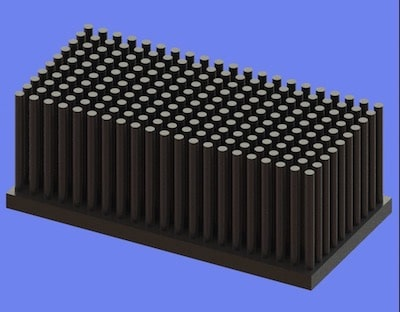 S805-80-40-30 Precision Forged Round Pin Heat Sink