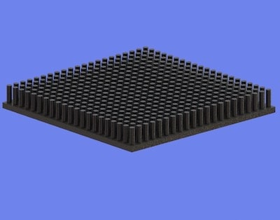 S805-80-80-10 Precision Forged Round Pin Heat Sink