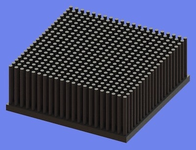 S805-80-80-30 Precision Forged Round Pin Heat Sink