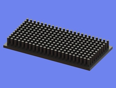 S805-90-45-10 Precision Forged Round Pin Heat Sink