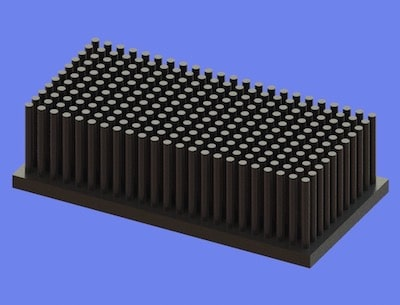 S805-90-45-25 Precision Forged Round Pin Heat Sink