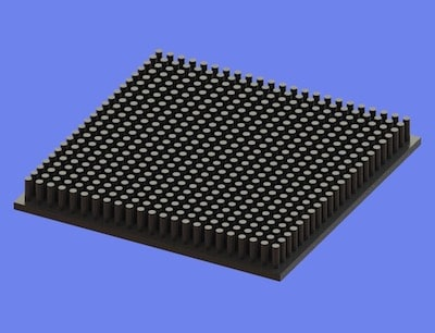 S805-90-90-10 Precision Forged Round Pin Heat Sink