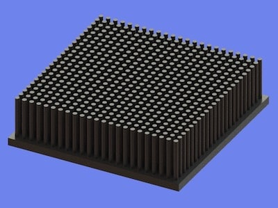 S805-90-90-25 Precision Forged Round Pin Heat Sink