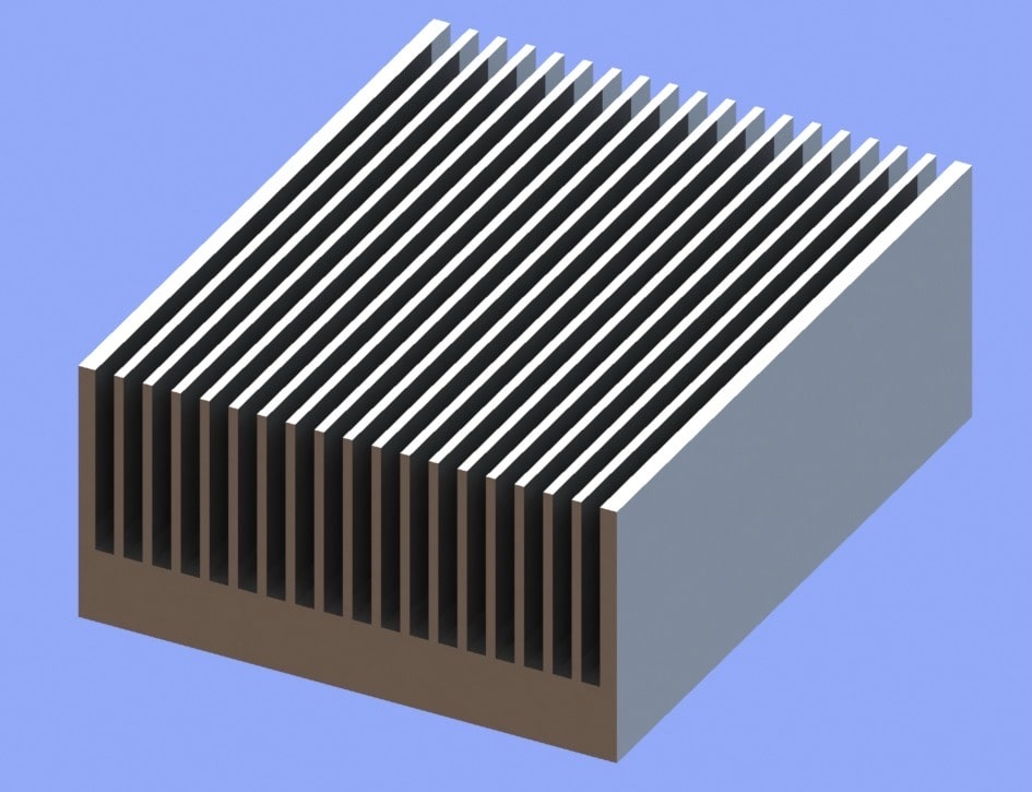 S818-80-38-100 Plate Fin Heat Sinks with High Aspect Ratios for High Airflow