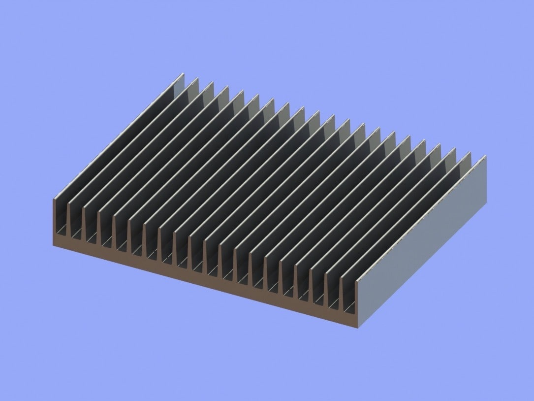 S819-250-40-200 Plate Fin Heat Sinks for Low to Medium Airflow