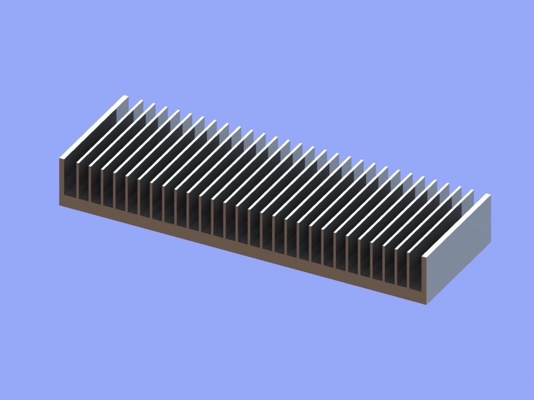 S819-300-40-100 Plate Fin Heat Sinks for Low to Medium Airflow