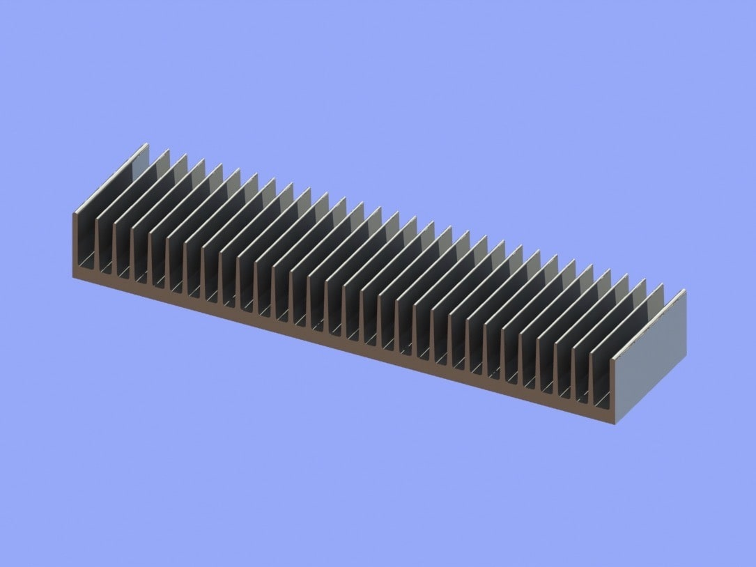 S819-400-50-100 Plate Fin Heat Sinks for Low to Medium Airflow