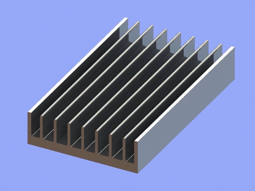 S819-60-18-100 Plate Fin Heat Sinks for Low to Medium Airflow
