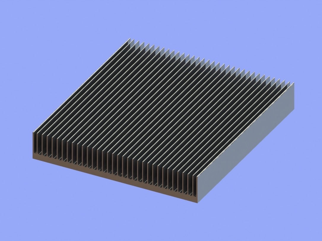 S819-90-15-100 Plate Fin Heat Sinks for Low to Medium Airflow
