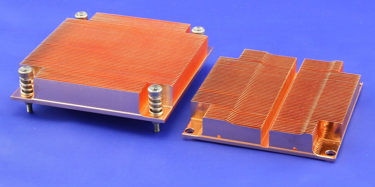 Skived Copper Heat Sinks